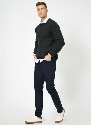 Koton Cep Detayli Pantolon Lacivert